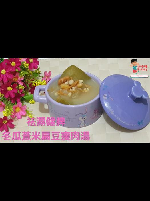 小小豬湯水篇 - 冬瓜薏米扁豆瘦肉湯