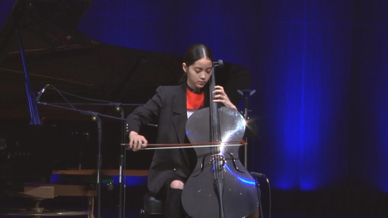 歐陽娜娜為生日會綵排 大騷音樂才華演奏大提琴