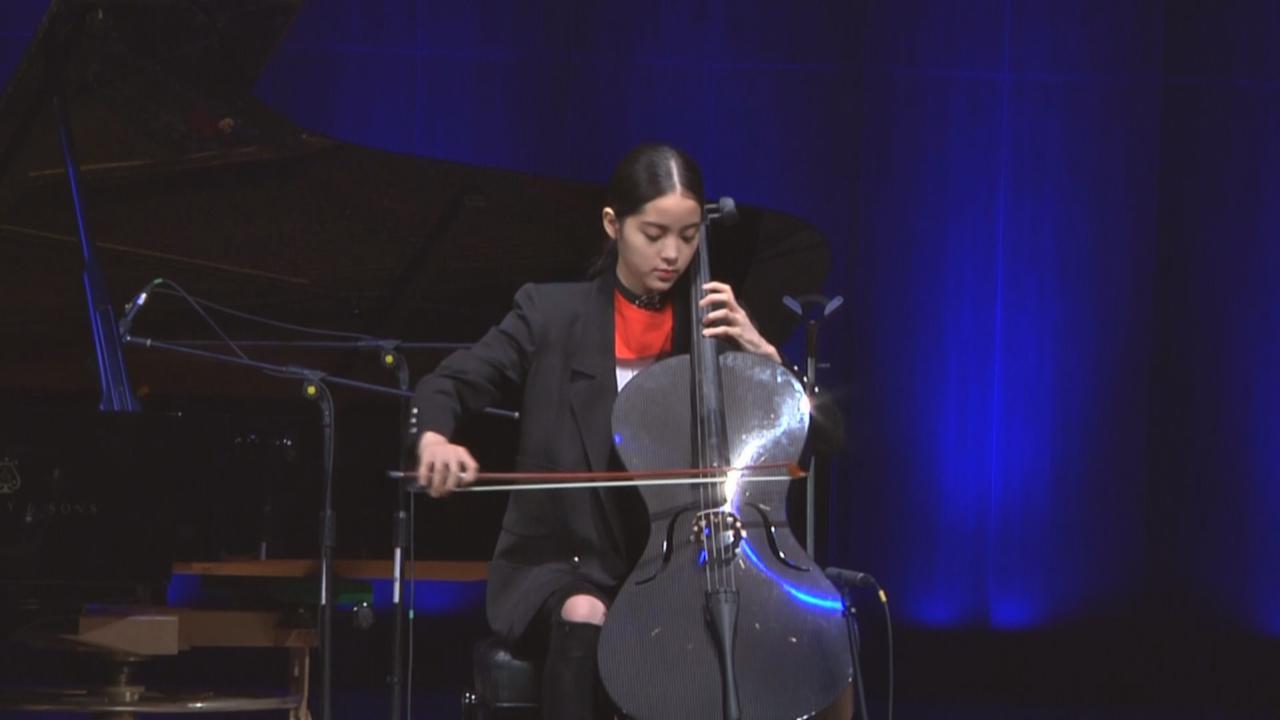(國語)歐陽娜娜為生日會綵排 大秀音樂才華演奏大提琴