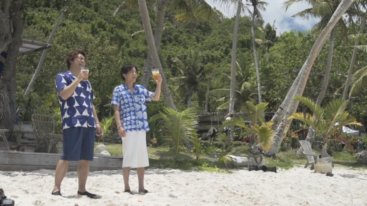 香取慎吾稻垣吾郎拍廣告 二人於海灘盡情玩樂