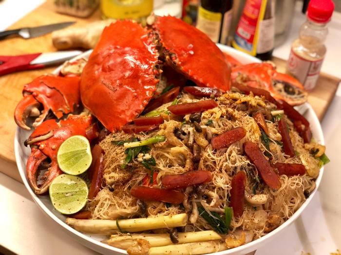 香茅膏蟹燜米粉。Jacky Yu