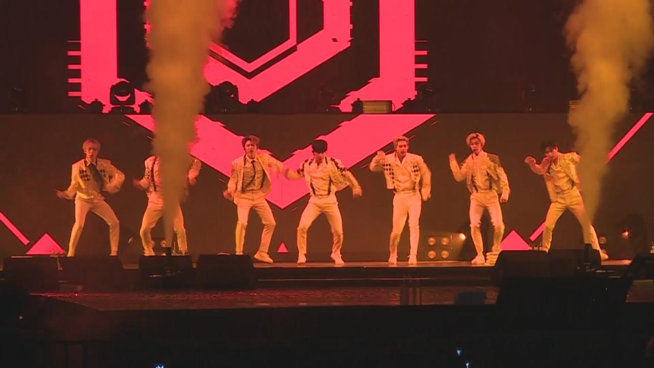 MONSTAX台灣舉行演唱會 七子勁歌熱舞氣氛高漲