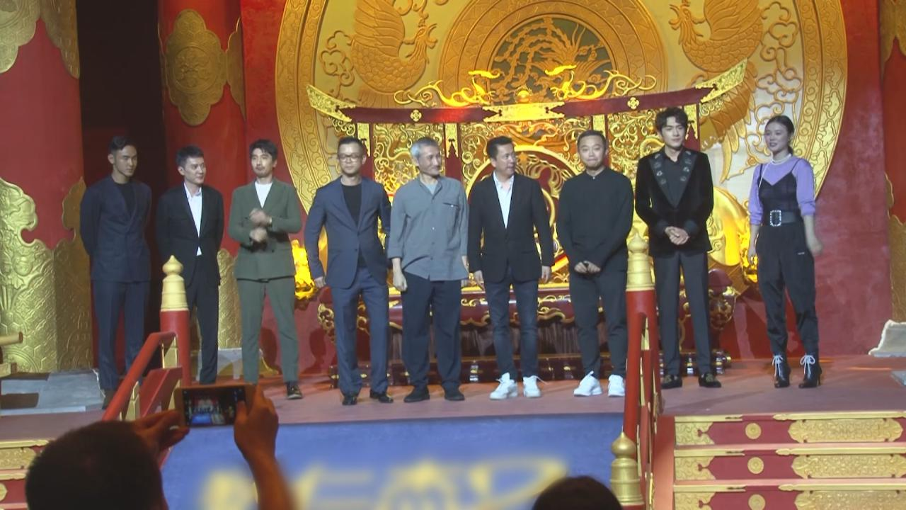 與新戲拍檔北京出席首映禮 阮經天即場大講冧女金句