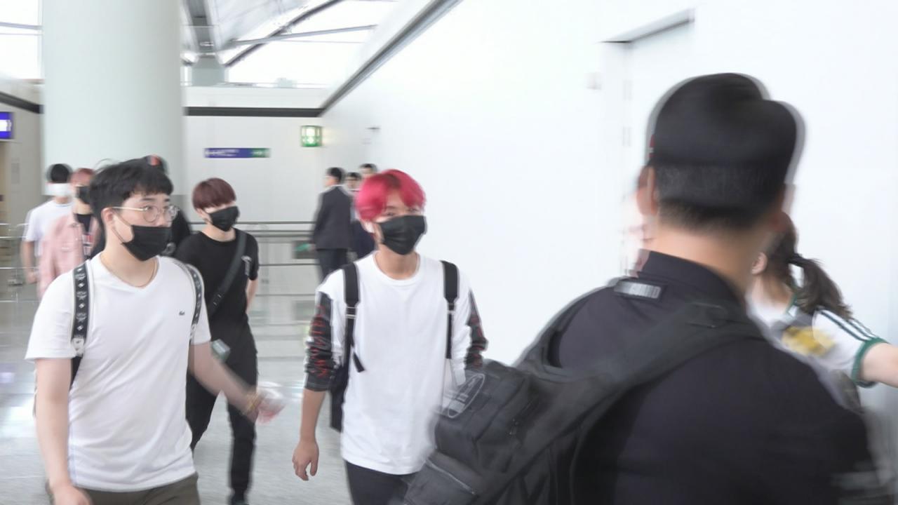(國語)WannaOne完成香港之旅飛回韓國 大批粉絲攻陷機場送機