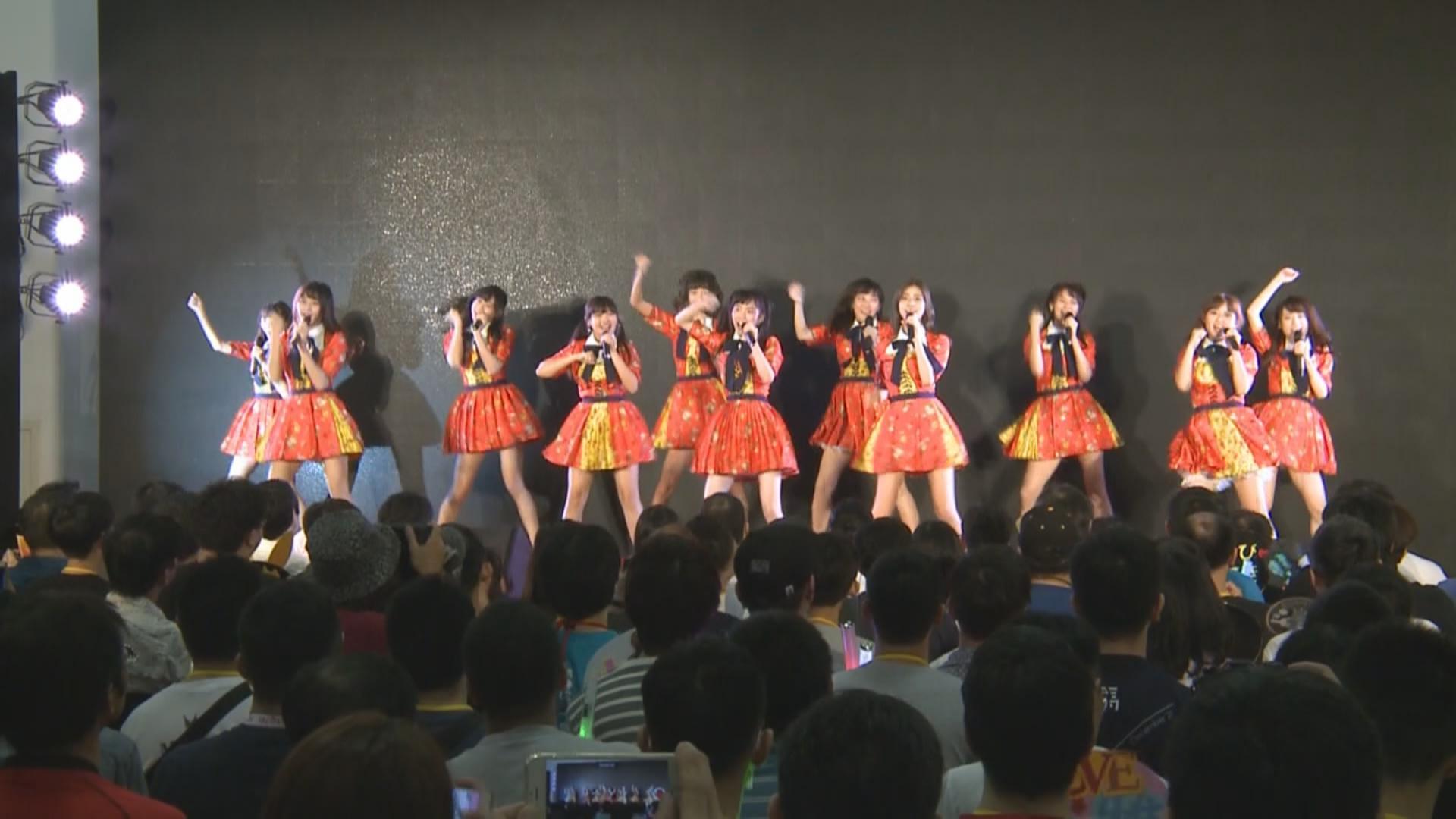(國語)AKB48TeamTP改名後正式亮相活動 成員賣力唱跳報答粉絲支持