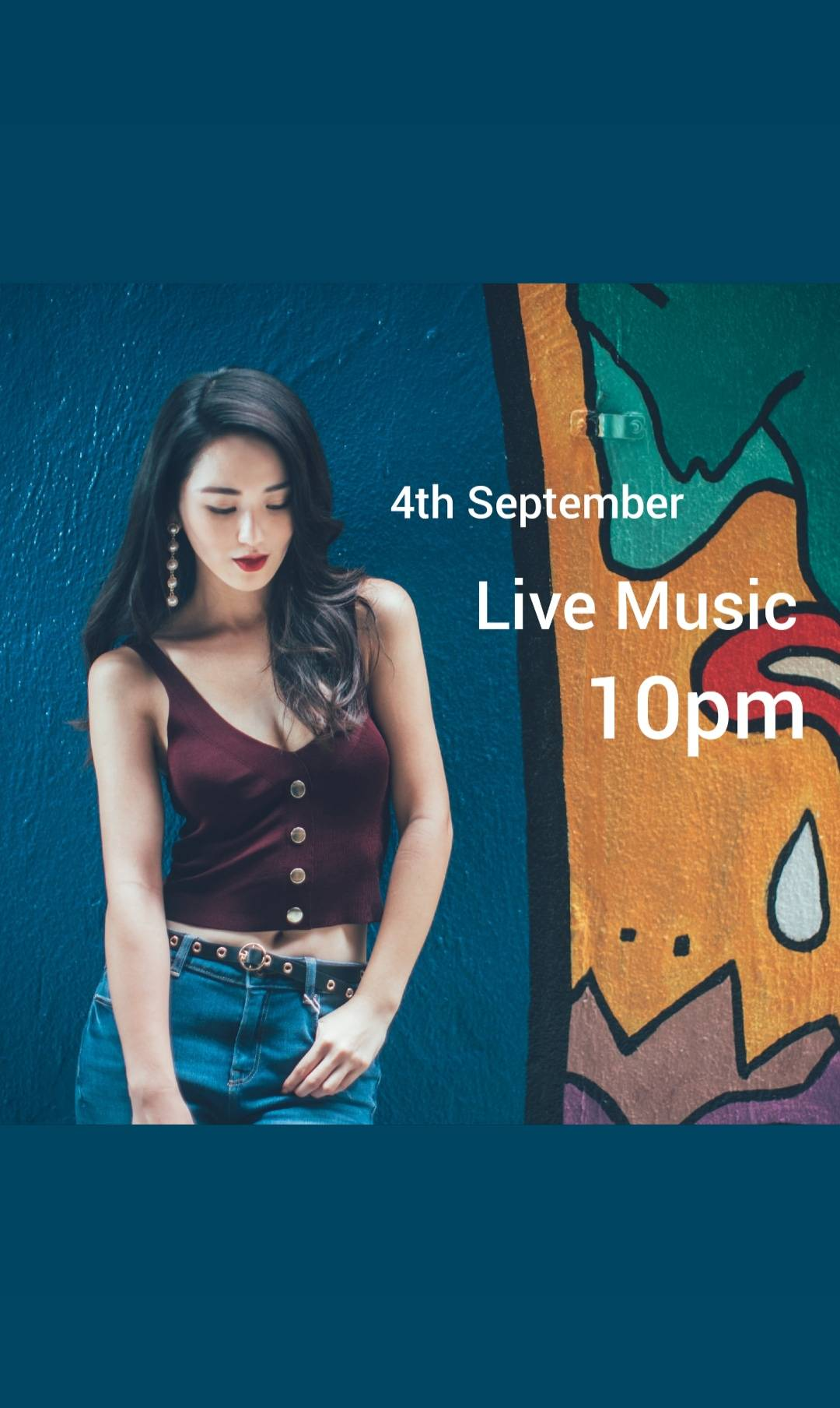明晚10pm,我們又有live band music, 一齊來唱歌。