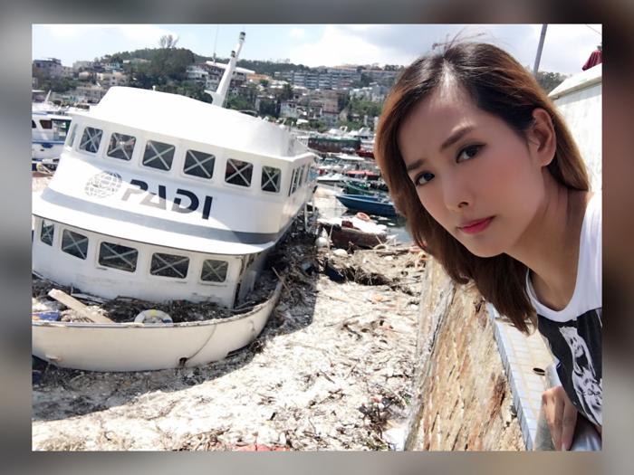颶風過後西貢海面