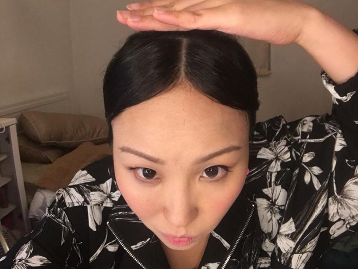 蝦頭 low tech 挑戰 延禧 宮女髪型