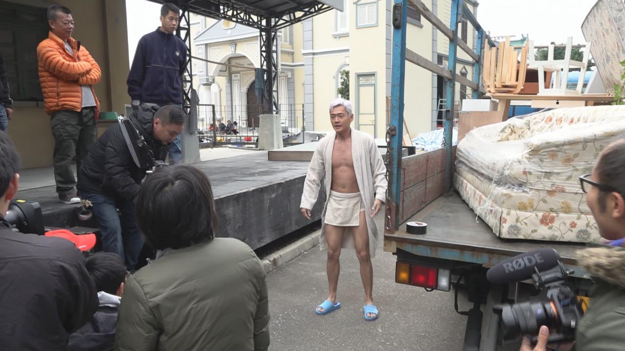 為新劇拍攝裸跑場口 張振朗笑稱成御用裸體狂
