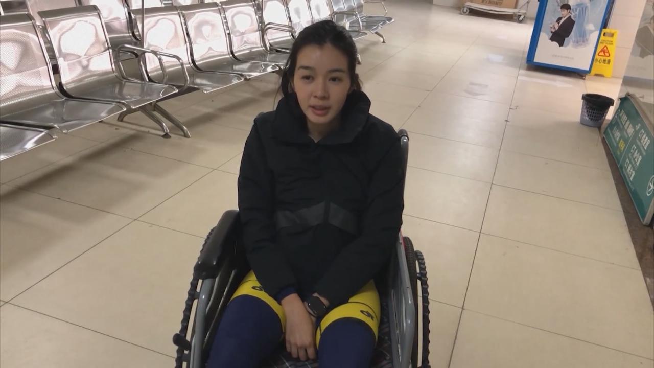 單車之旅再生意外 麥明詩需入院檢查