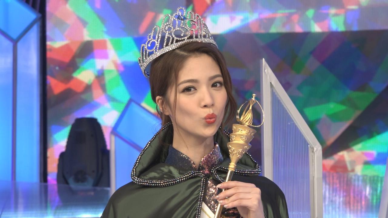 勝出國際中華小姐冠軍 陳曉華滿意答問環節
