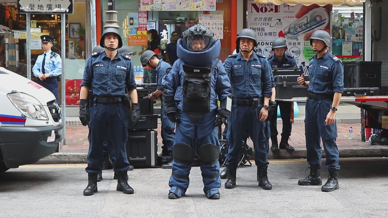 劉德華尖東封街拍攝新戲 鬧市拍煞科爆炸場面
