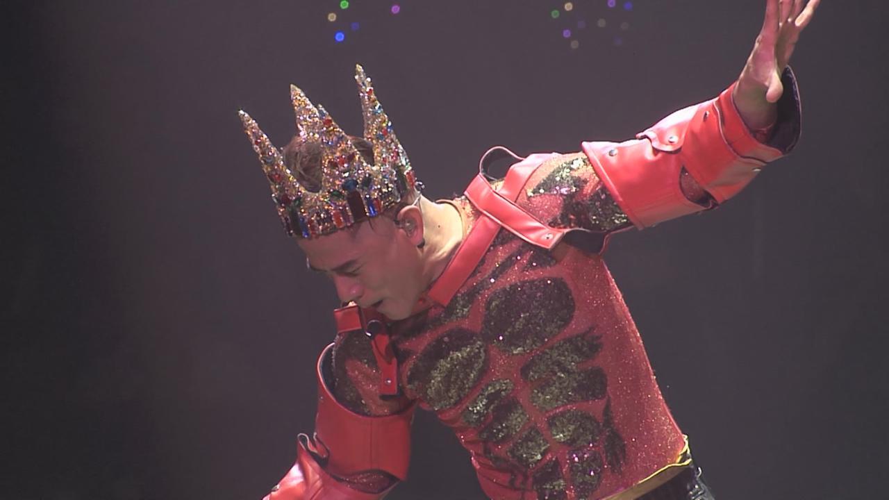 郭富城巡唱上海站 戴特製皇冠盡顯舞台王者之風