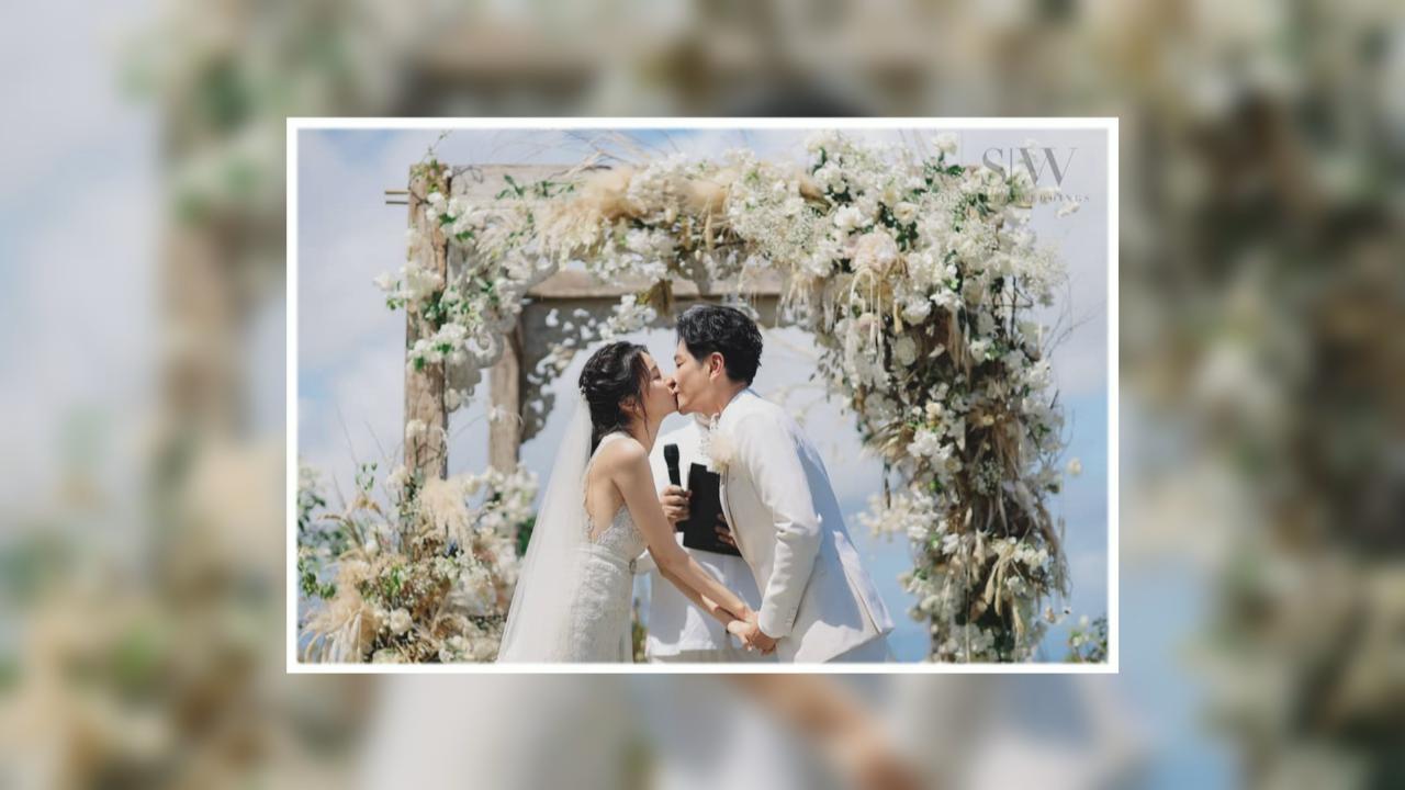 蕭正楠黃翠如峇里補辦婚禮 網上分享婚禮甜蜜時刻