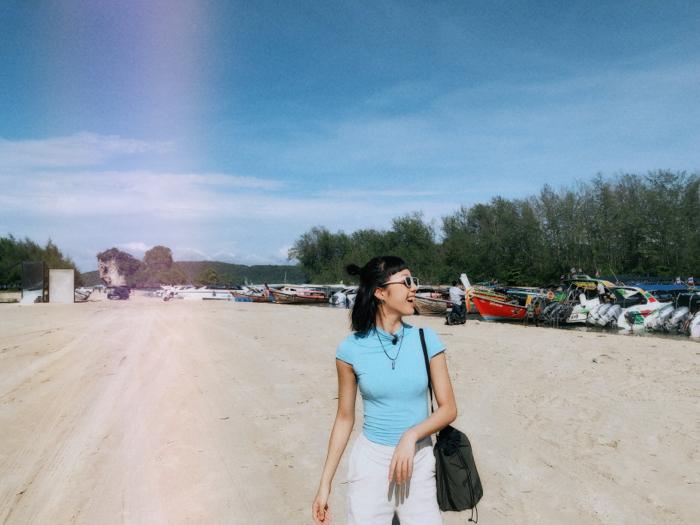 On the boat in Krabi