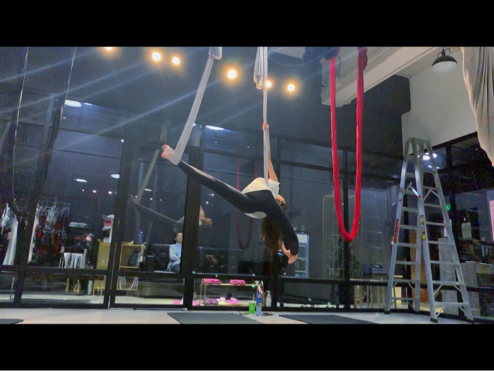First try of aerial yoga