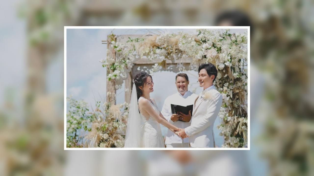(國語)蕭正楠黃翠如峇里島補辦婚禮 網上分享婚禮甜蜜時刻