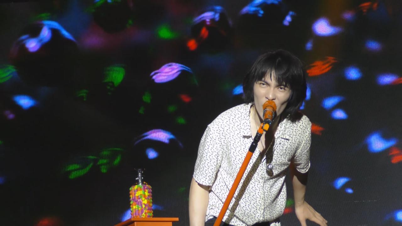蕭敬騰率樂團獅子LION廣州開騷 連番high 歌炒熱氣氛