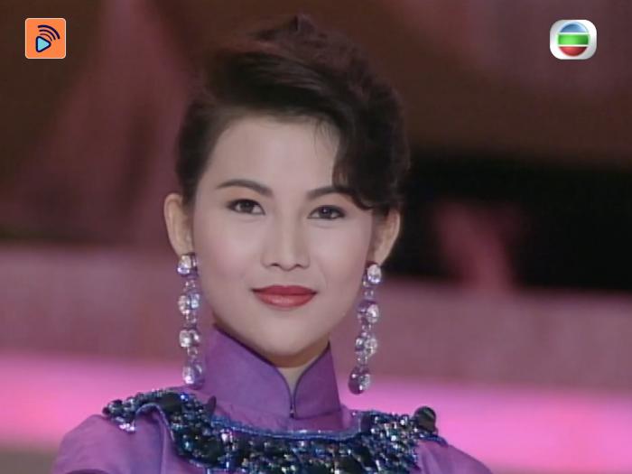 1991年 蔡少芬被譽為當年冠軍的港姐