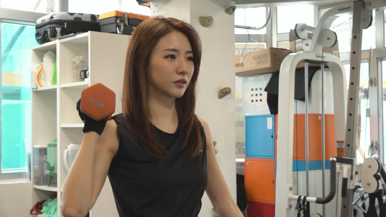 菊梓喬為演唱會積極操體能