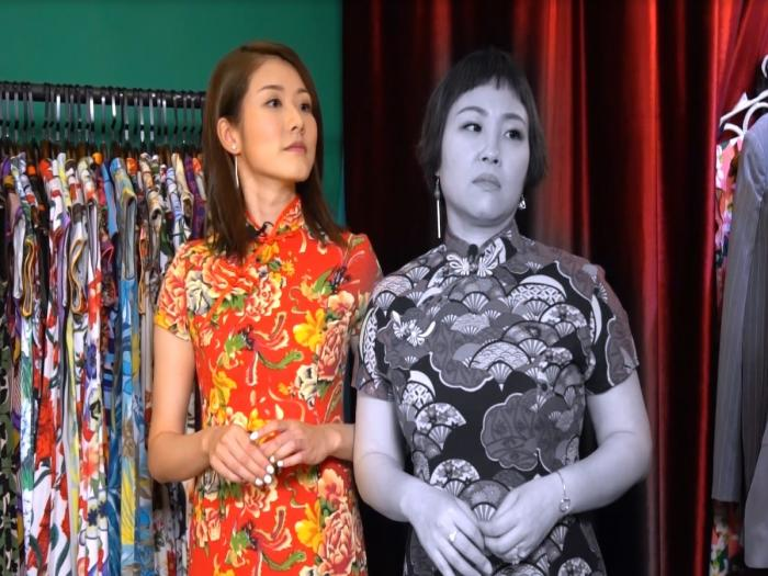 蝦頭著起旗袍似唔似靚女?