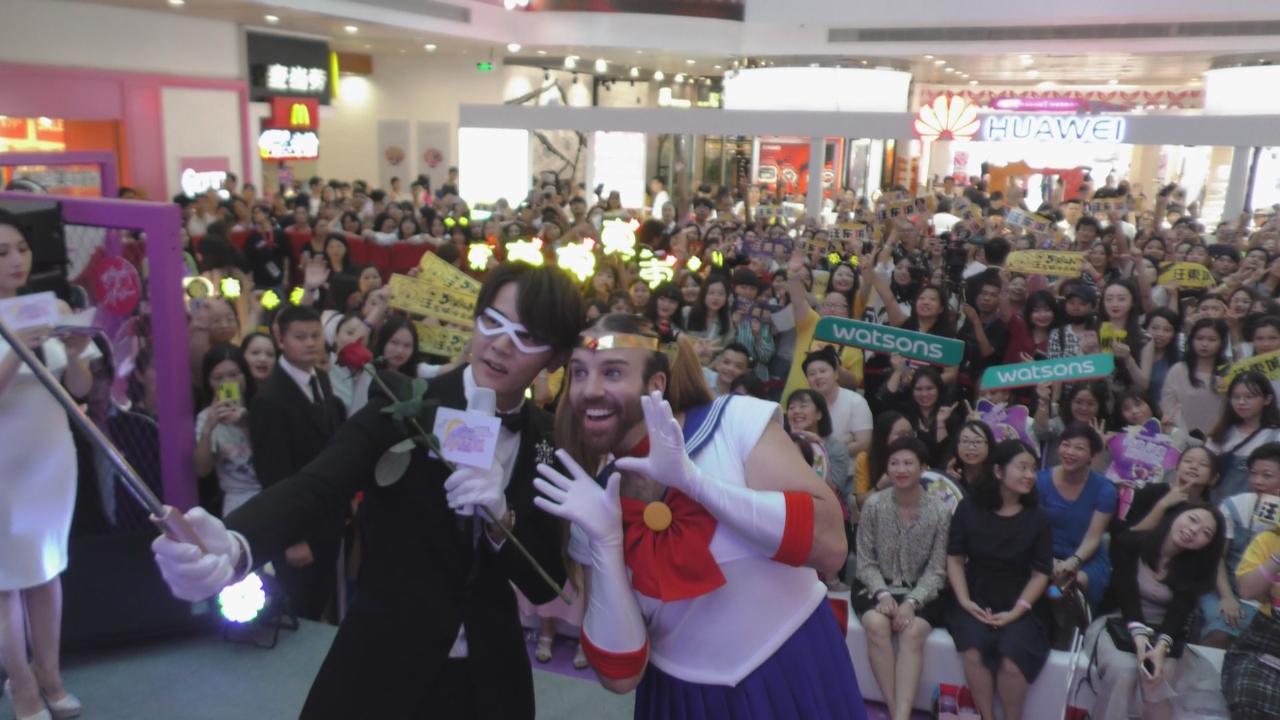 汪東城廣州出席活動 獲大班粉絲到場支持