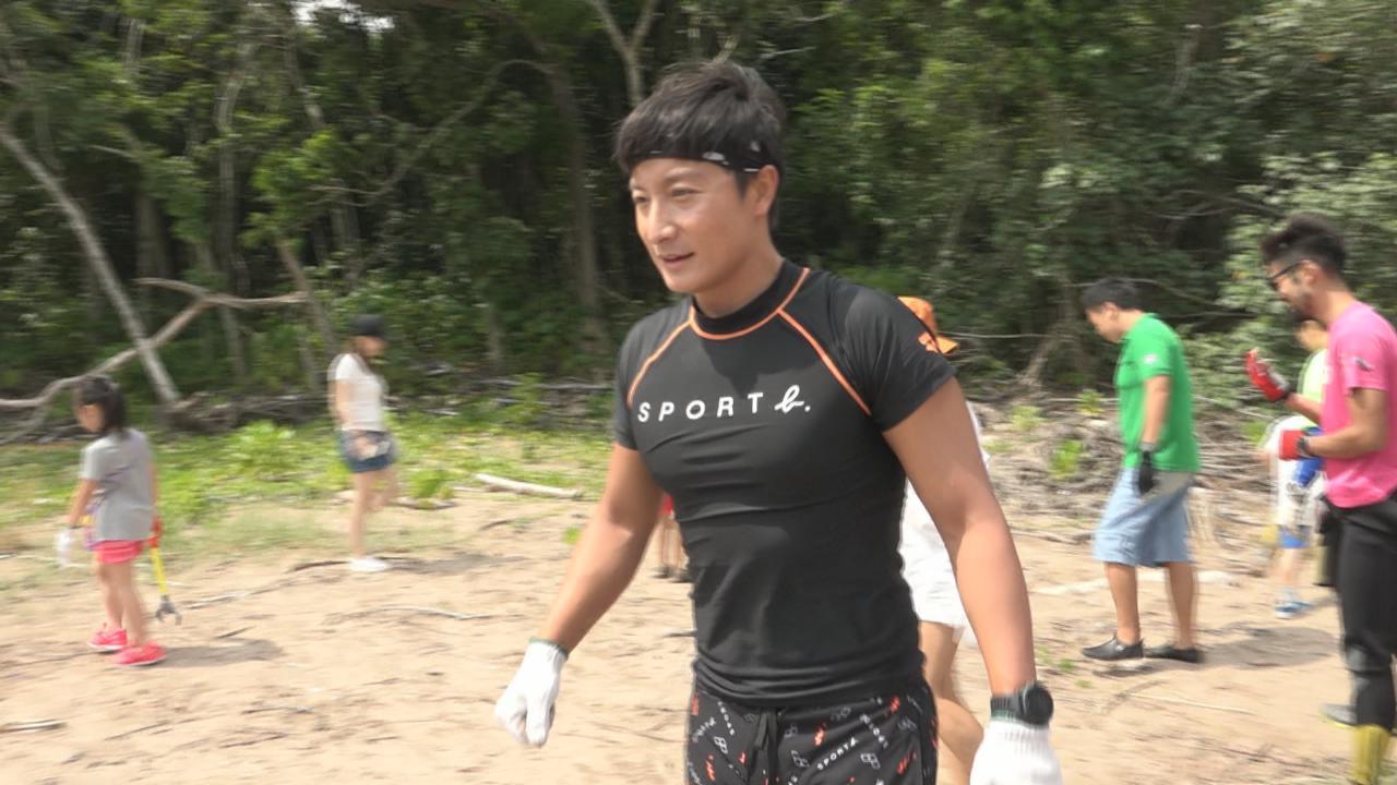 方力申參加十五公里賽 自行加操為環島泳熱身