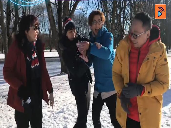 Do姐農夫玩Snow Ball Fight