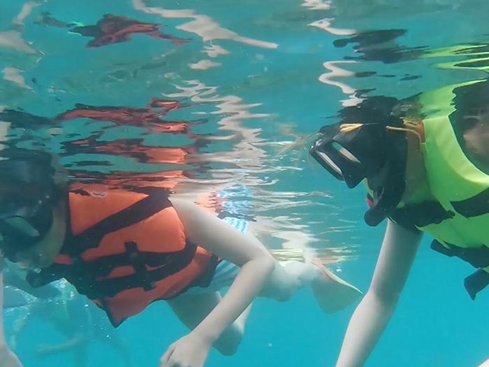 出海玩浮潛睇珊瑚