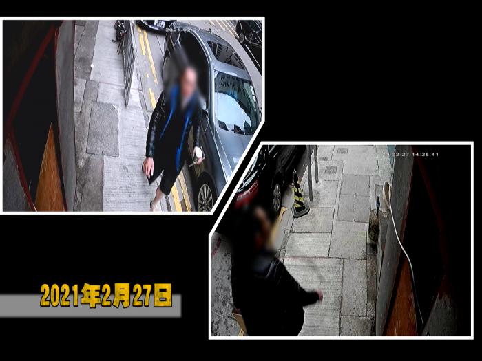 潑咖啡掟蕉皮_西環配匙老店檔主被陌生男多次無故襲擊_東張跟進期間警方迅速拘捕疑犯