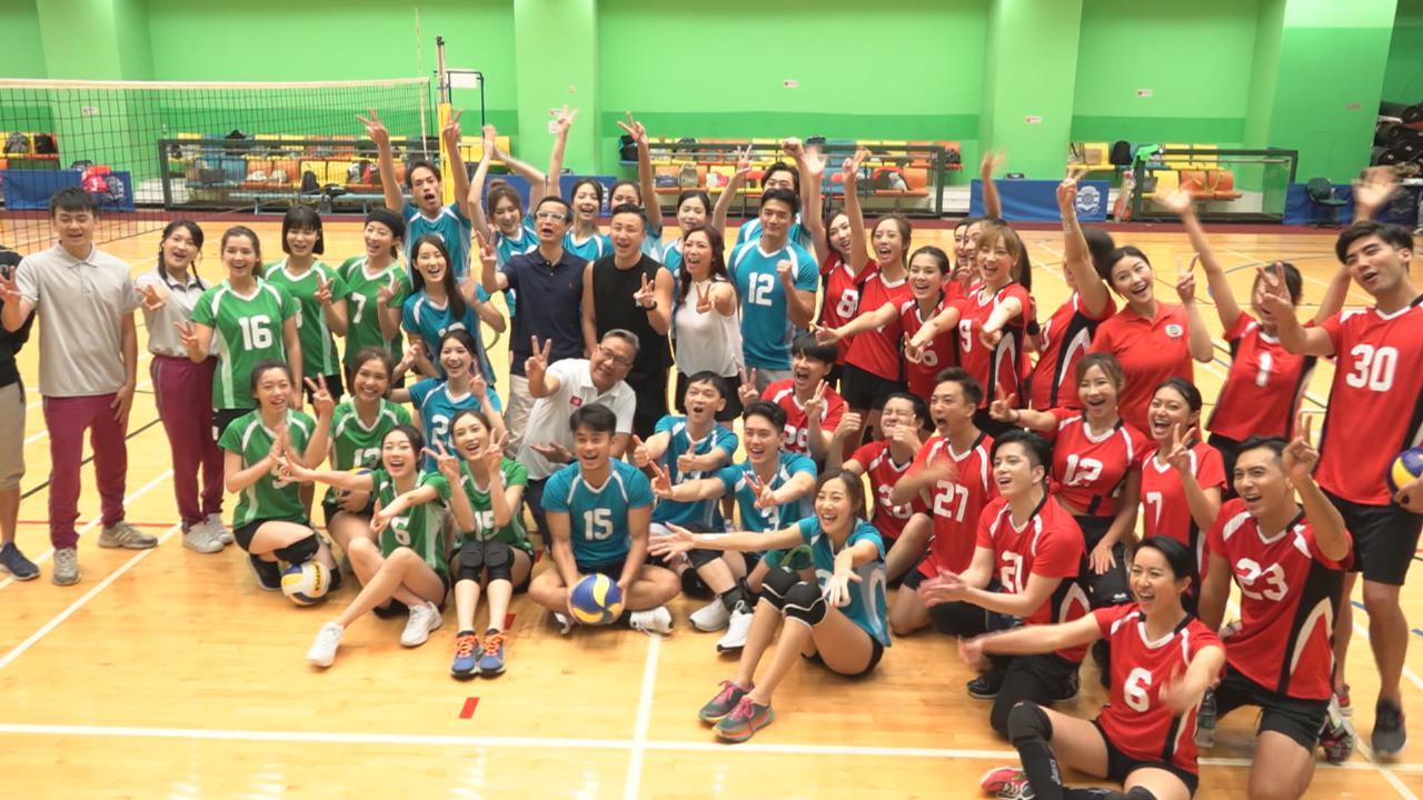 張彥博曾做女排校隊助教 與黃子恆為明星運動會隊員打氣