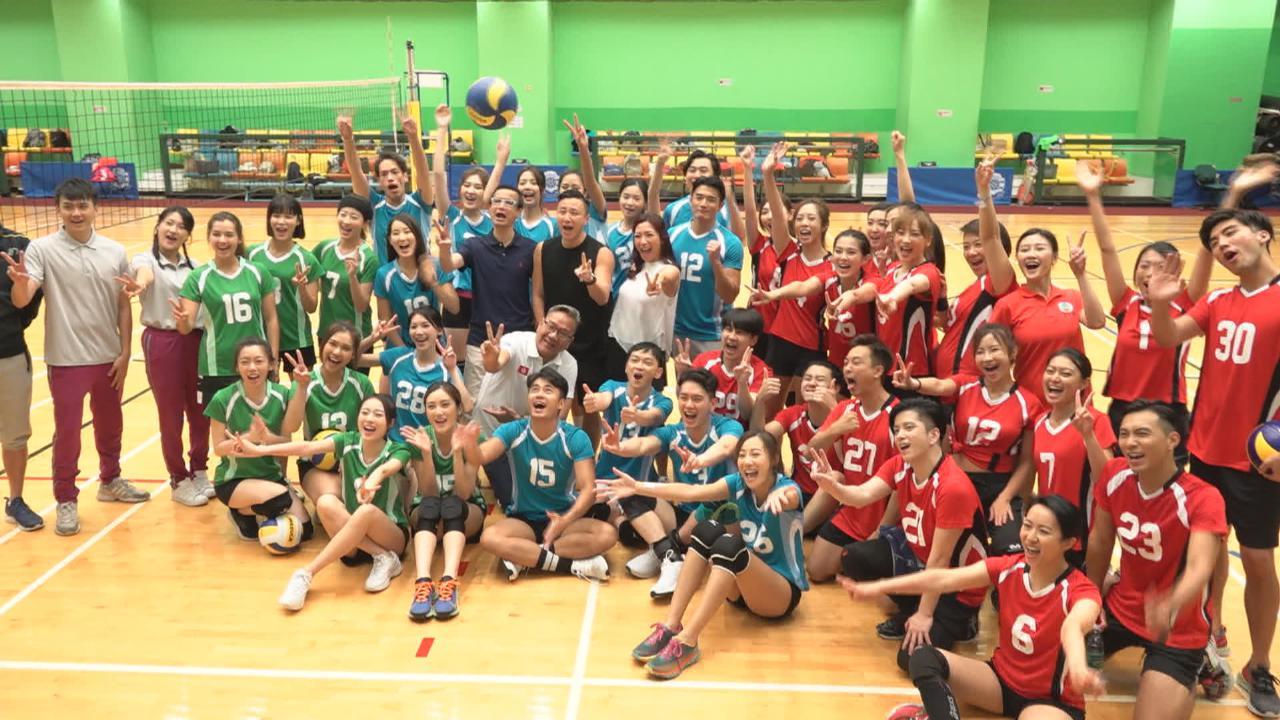 (國語)張彥博曾做女排校隊助教 與黃子恆為明星運動會隊員打氣