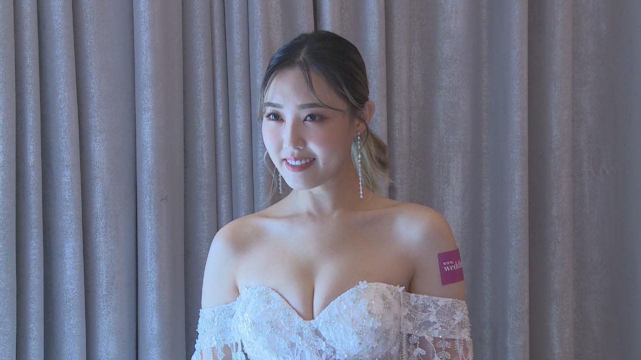 林秀怡一改男仔頭形象  開心獲邀出席婚紗秀