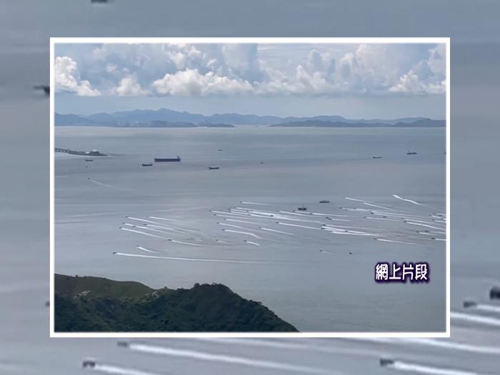 幾十艘快速大飛橫行港海域 高速與水警輪追逐 目擊者親述驚險場面